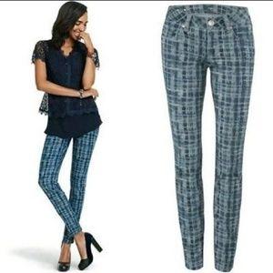 Cabi Curvy Skinny Grid Pattern Jeans #3049 size 14
